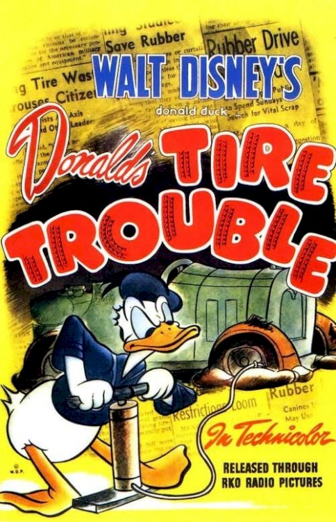 Donald's Tire Trouble - Movie Poster