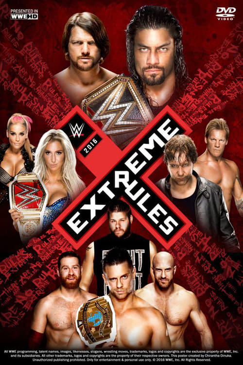 WWE Extreme Rules 2016 - Movie Poster