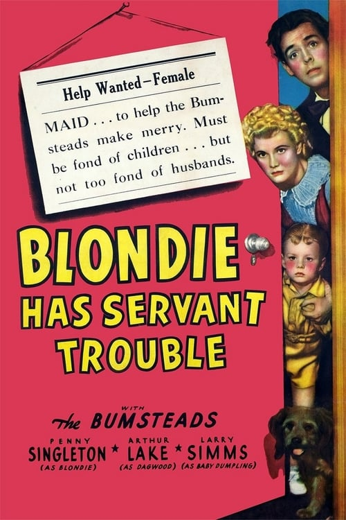 Blondie Has Servant Trouble - Movie Poster