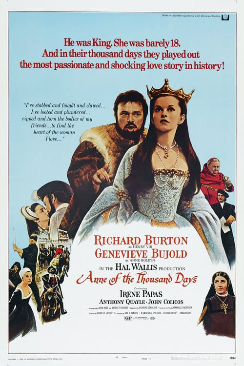 Anne of the Thousand Days - Movie Poster